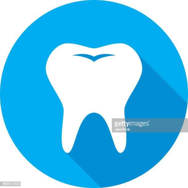 ilustraciones, imágenes clip art, dibujos animados e iconos de stock de diente icono silueta - dolordemuelas