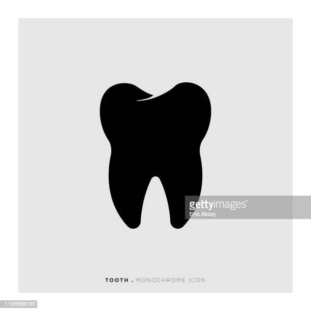 tooth icon - dental equipment stock illustrations