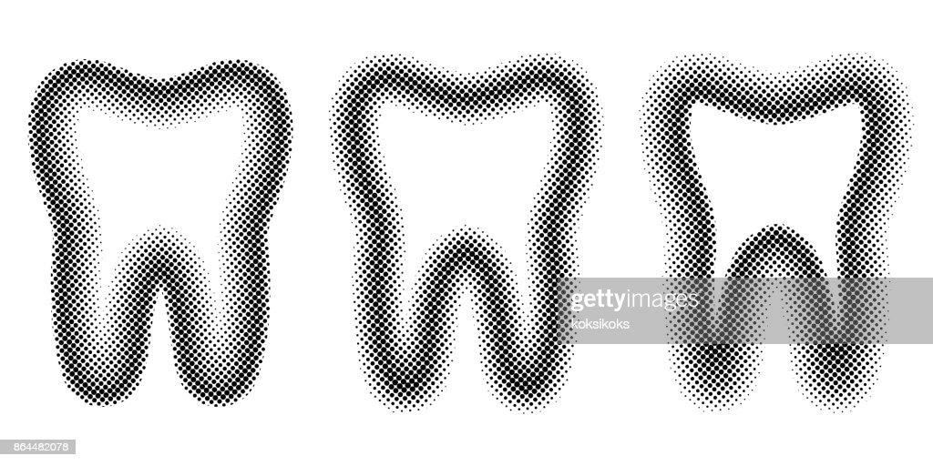 Tooth set dots halftone effect vector template teeth molar halftone tooth set dots halftone effect vector template teeth molar halftone for design dental clinic maxwellsz
