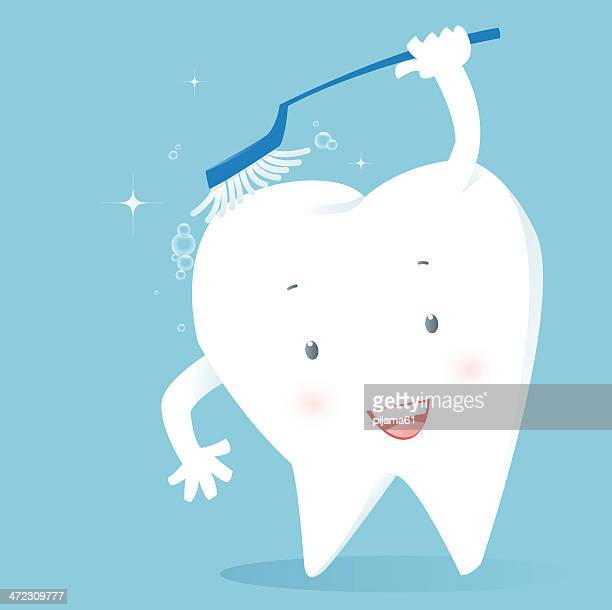 tooth - brushing teeth stock illustrations