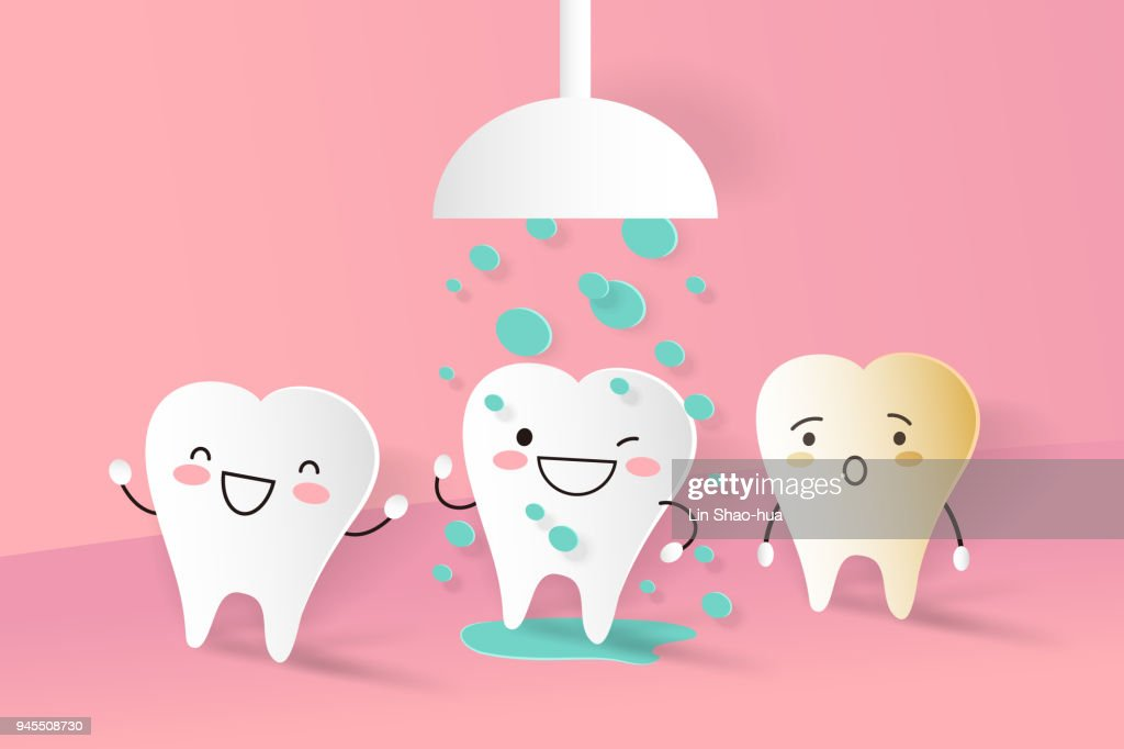 tooth with cleaning concept
