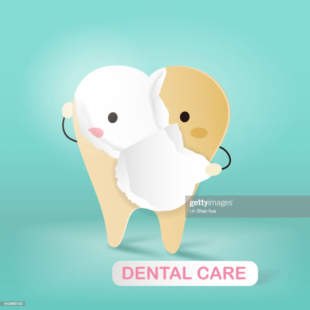 tooth with dental care concept