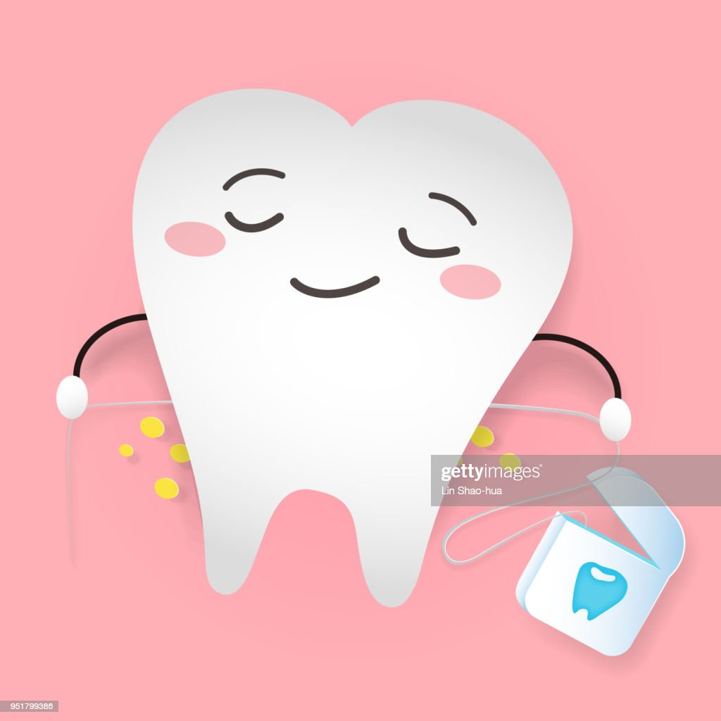 tooth with dental floss