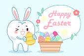 tooth with happy easter