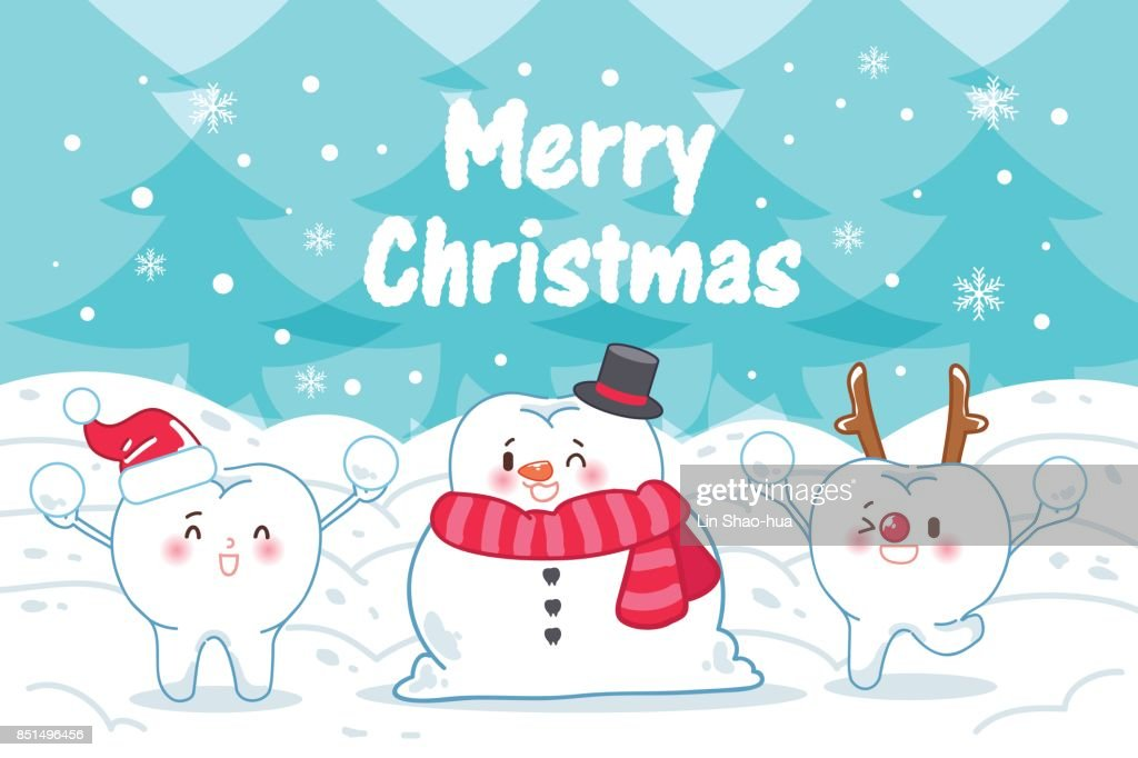 tooth with merry christmas
