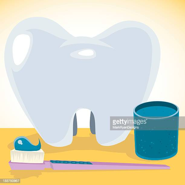 toothcare icons - mouthwash stock illustrations