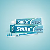 Toothpaste and toothbrush advertisement