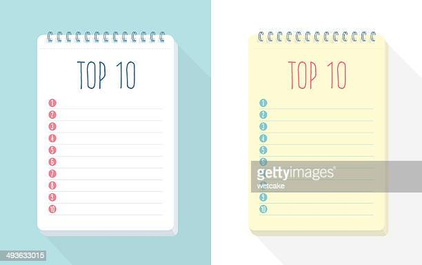 top 10 list - list stock illustrations, clip art, cartoons, & icons