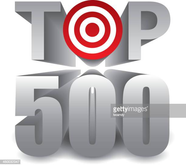 top 500 - number 500 stock illustrations