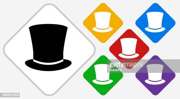 Top Hat Color Diamond Vector Icon
