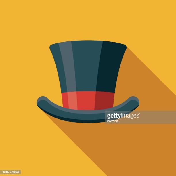 Top Hat Flat Design Prom Icon