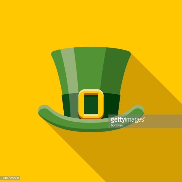 Top Hat Flat Design St. Patrick's Day Icon
