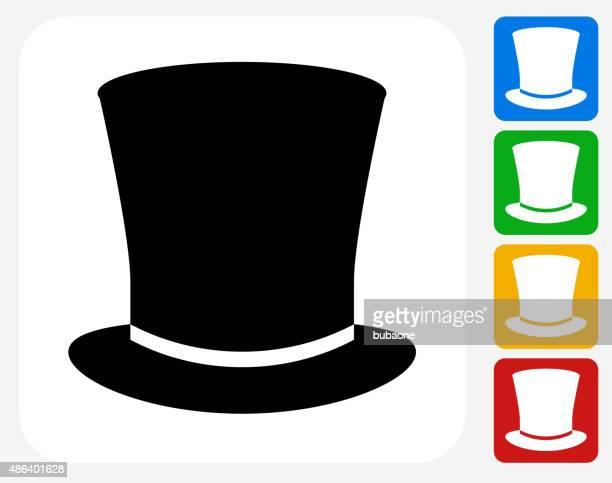 Top Hat Icon Flat Graphic Design