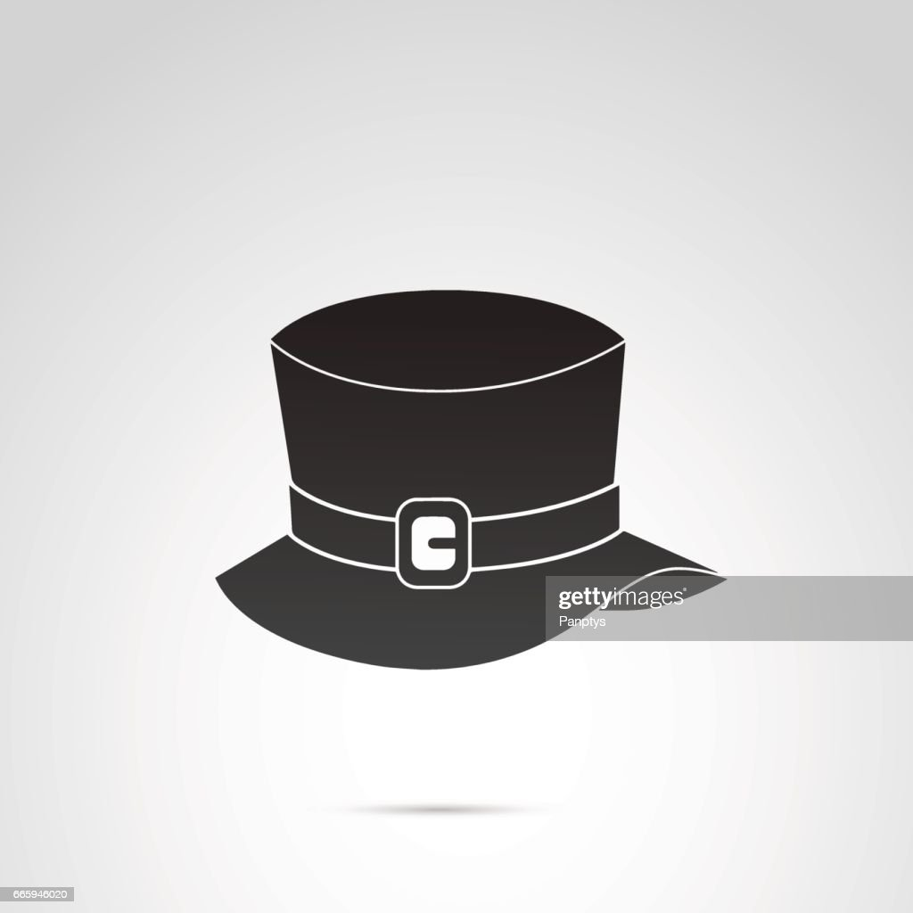 Top hat icon isolated on white background.