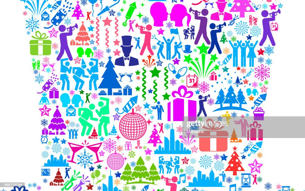 top hat new year celebration party vector art
