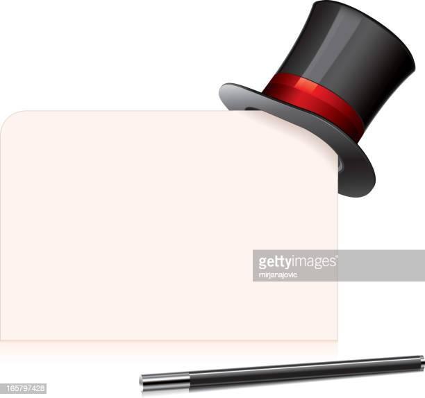 top hat - magic trick stock illustrations, clip art, cartoons, & icons