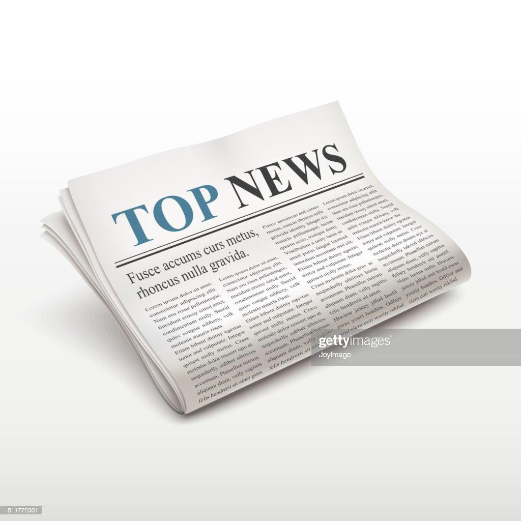 top news words on newspaper