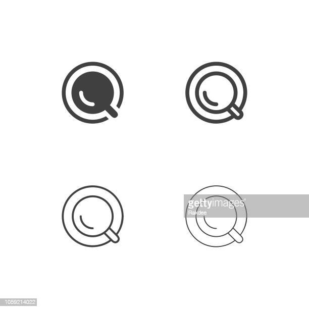 top of coffee cup icons - multi series - coffee break stock illustrations