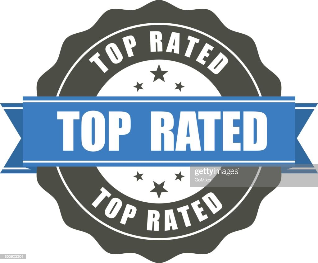 Top Rated badge - award sticker
