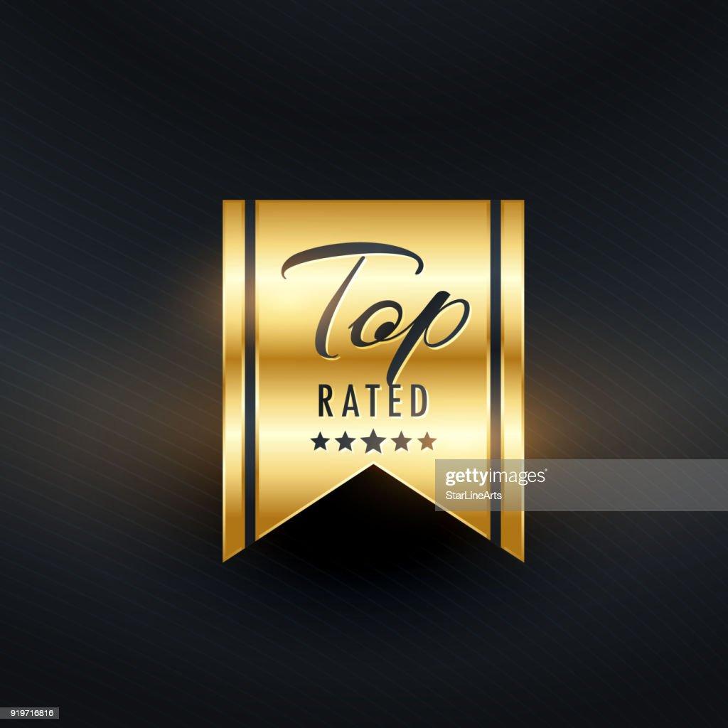 top rated golden label design