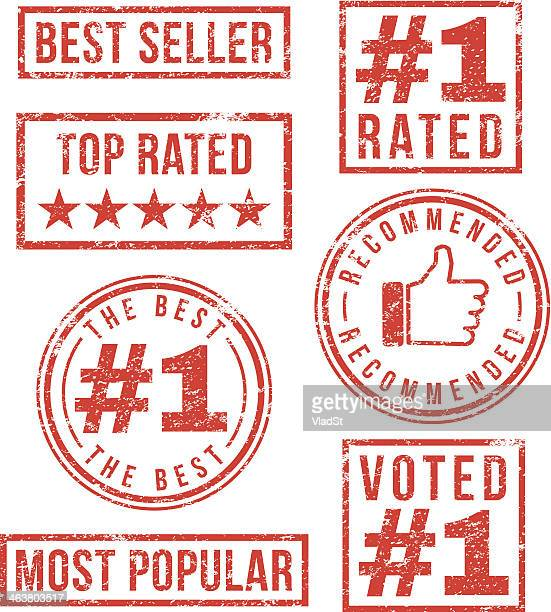 top rated, most popular - rubber stamps - adulation stock illustrations, clip art, cartoons, & icons