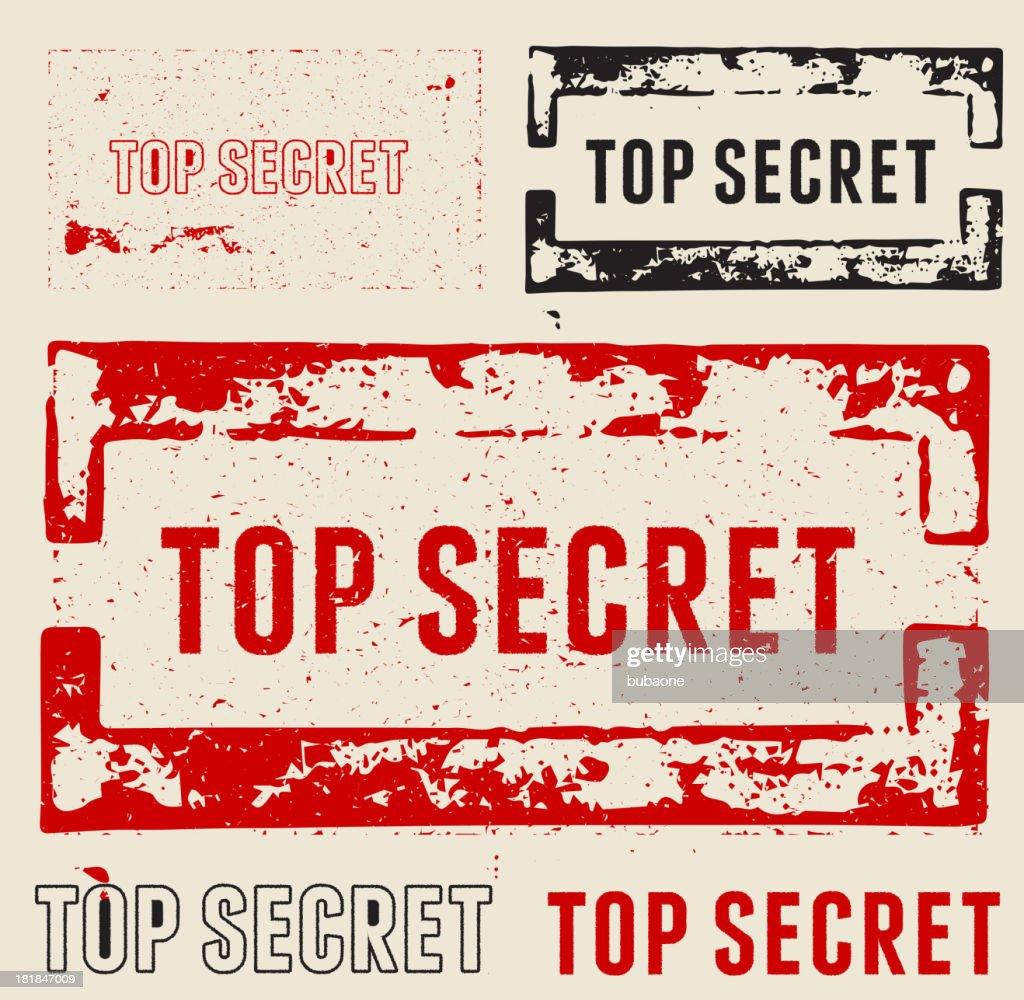 Top Secret Grunge Stamps : stock illustration