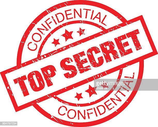 top secret rubber stamp - confidential stock illustrations