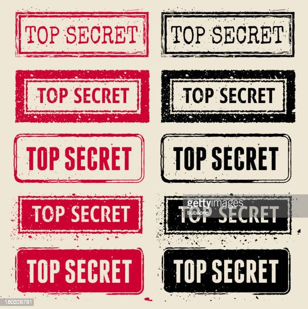 top secret vector rubber stamp collection - confidential stock illustrations, clip art, cartoons, & icons