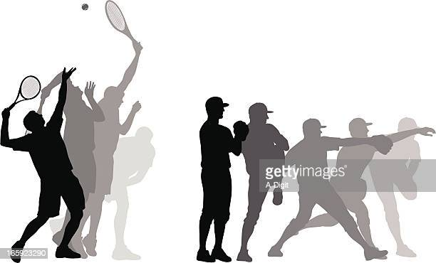 top speed vector silhouette - tennis stock illustrations