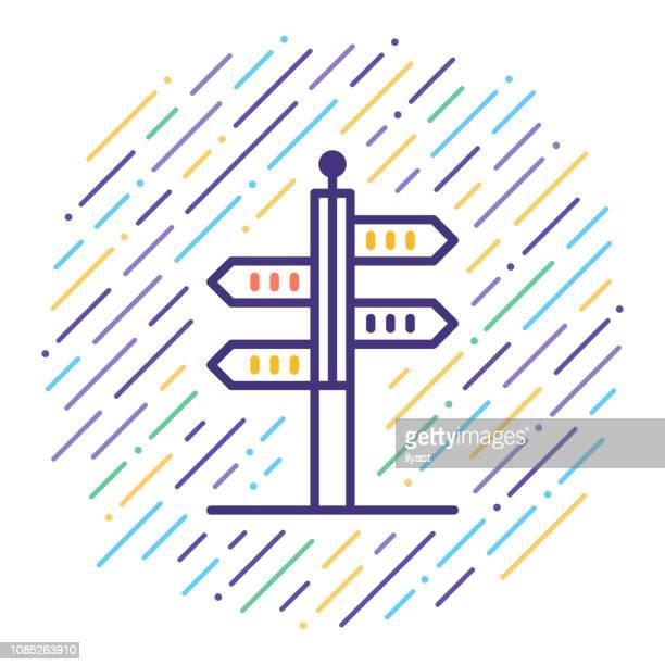 ilustraciones, imágenes clip art, dibujos animados e iconos de stock de viajes destinos línea icono ilustración - destinos turísticos