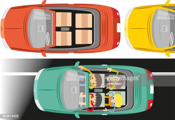 Top view cabrio car (vector)