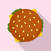 Top view hamburger icon, flat style