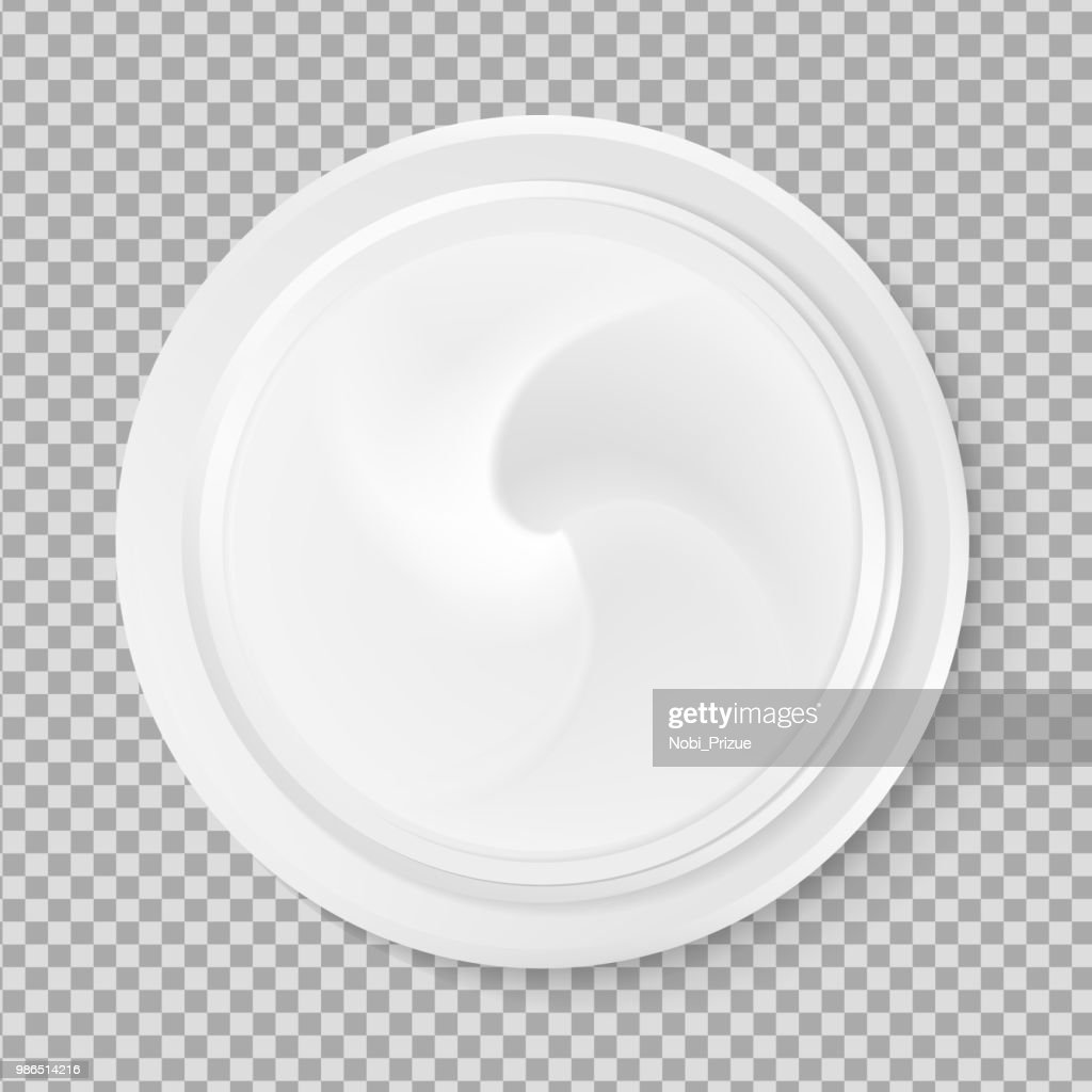 Top view hygienic cream