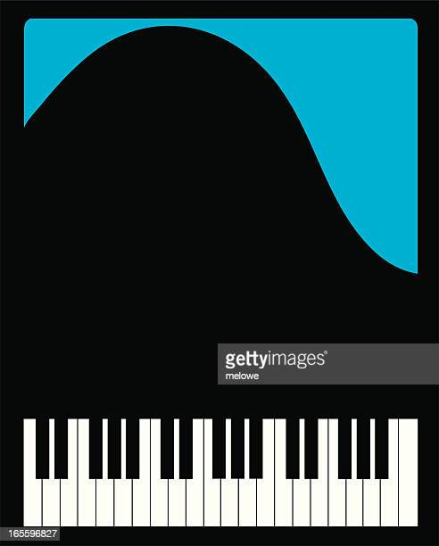 top view of a grand piano - key stock illustrations