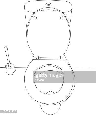 Top View Of A Toilet Bowl Stock Illustration Getty Images