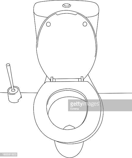 top view of a toilet bowl - water treatment stock illustrations, clip art, cartoons, & icons