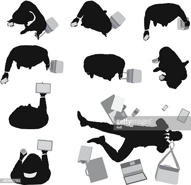 top view of business people - lying on back stock illustrations, clip art, cartoons, & icons