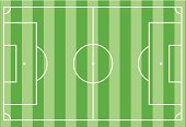 Top view of  football field  vector illustration