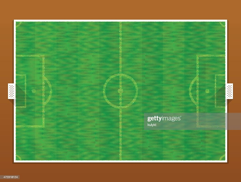 Top view of soccer pitch