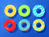 Top view vector collection of rubber rings