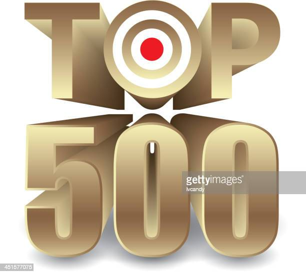top500 - number 500 stock illustrations