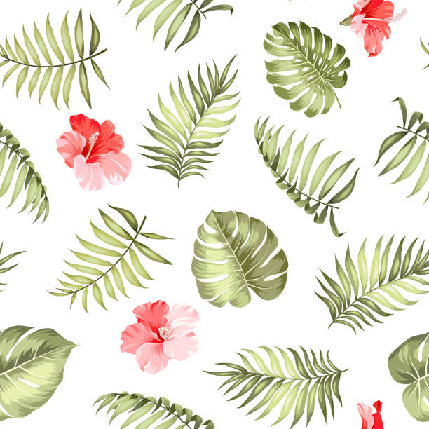 Topical Palm Leaves Pattern. Wall Art