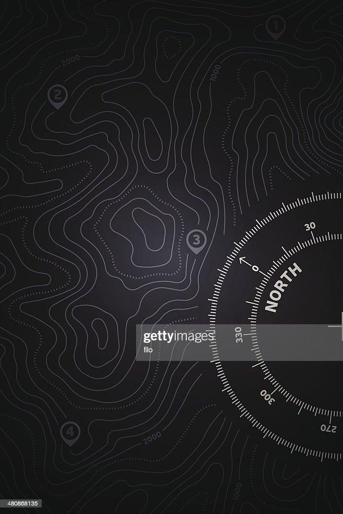 Topo Map Background : stock illustration