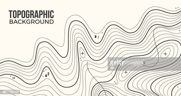 topographic background - cartography stock illustrations