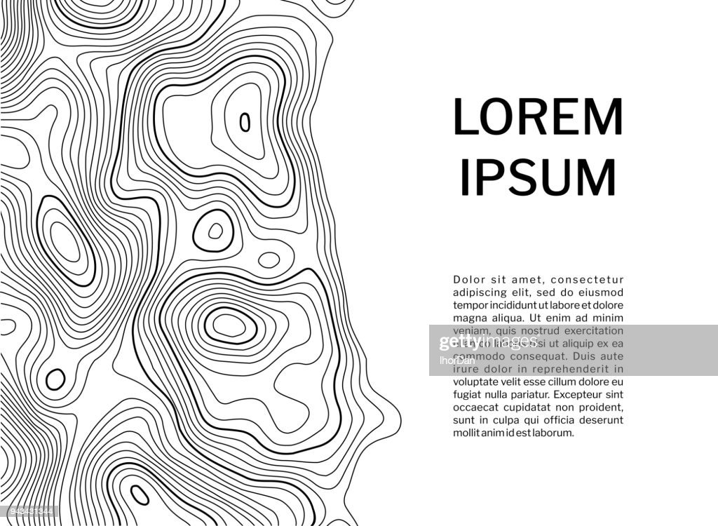 Topographic contour map background concept with space for your text.