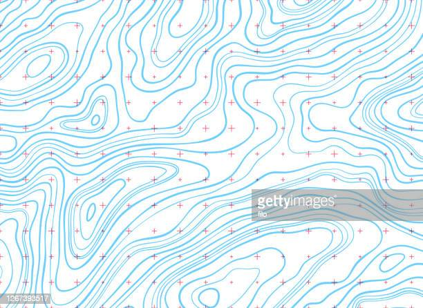 topographic lines background - road marking stock illustrations