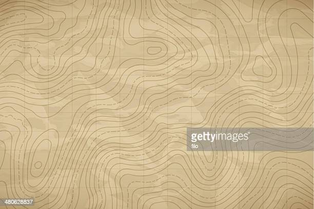 topographic map background - cartography stock illustrations