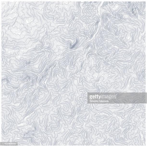 stockillustraties, clipart, cartoons en iconen met topografische kaart contouren - contourlijn