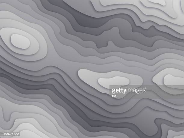 topographic relief map - cartography stock illustrations