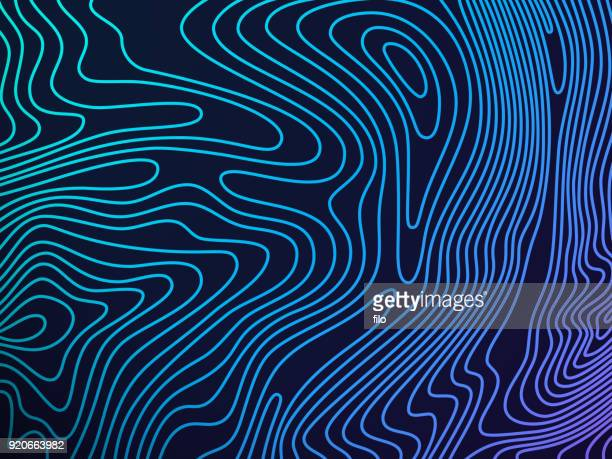 topography background - curve stock illustrations